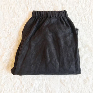 Flax Linen Pant Comfortable Fit Black Size Small